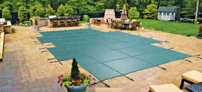 Safety Pool Cover - Closing Your Pool for the Season