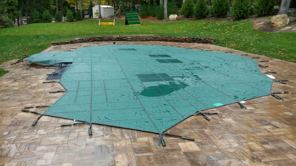 Covers Before After Pool Cover
